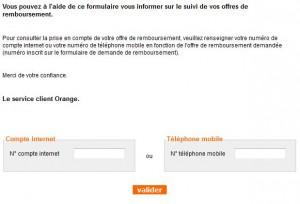 demande remboursement orange
