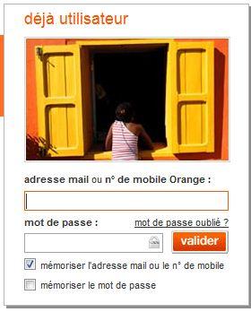 Accès compte utilisateur Orange