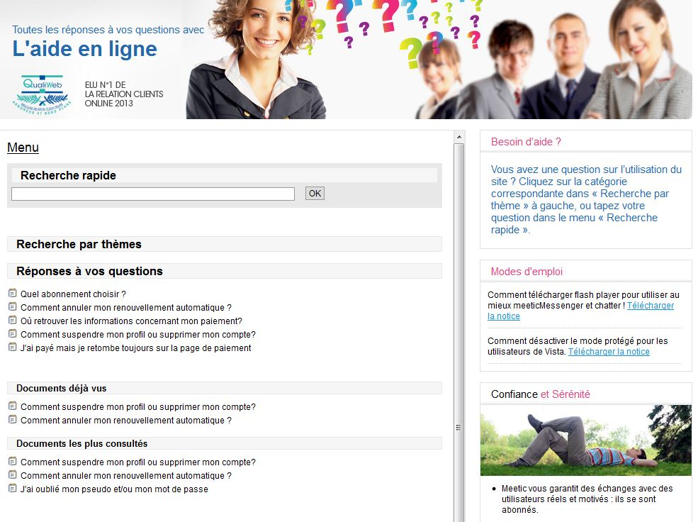 service client meetic
