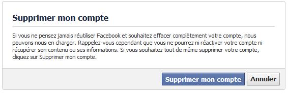 effacer definitivement un compte facebook