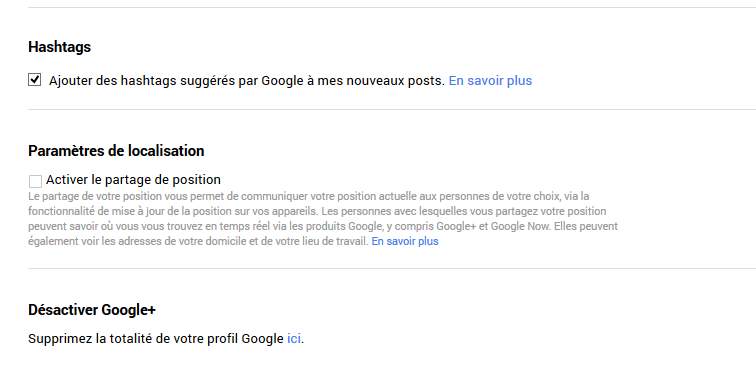 supprimer google+