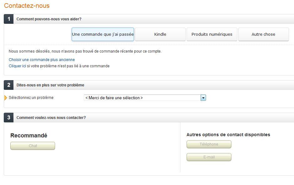 contact service clients Amazon