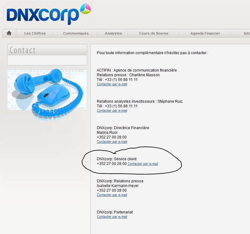 service client dnxcorp