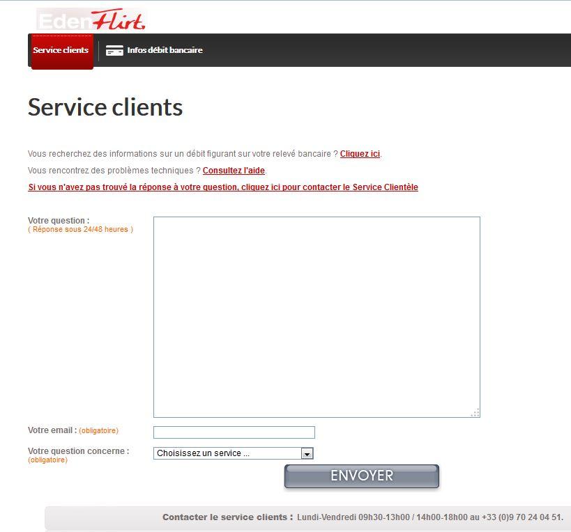 service client eden flirt